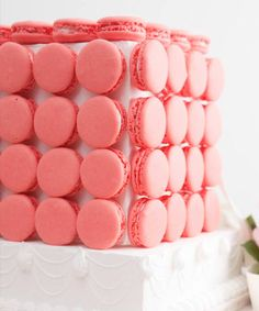 Laduree Rose Macaron Cube