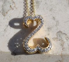 "Open Hearts by Jane Seymour™ 1/4 ctw Diamond Pendant in 14K Yellow Gold 20"" 585 #JaneSeymour #Pendant"