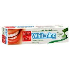 Kiss My Face - Aloe Vera Whitening Toothpaste, 3.4 oz gel