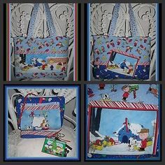 SNOOPY HANGING CHRISTMAS LIGHTS CHARLIE BROWN PURSE SET cosmetic case Key Fob