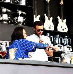Ayesha Curry cookin something up. They are so cute!!!