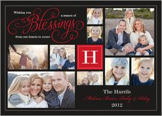 Heartfelt Blessings Christmas Card