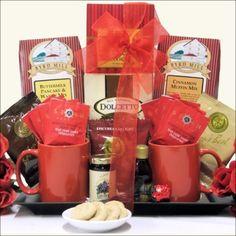 Breakfast for Two: Anniversary Gift Basket, Gourmet & Artisan Foods :: Gift Boxes & Baskets :: Bullszi.com