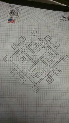 Celtic knot on graph paper