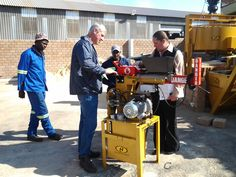 Taking our client through our Hydraform Machine. Brick Pavers, Research And Development, Cement, Success, Outdoor Decor