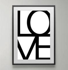 love poster black and white love wall art art print home decor