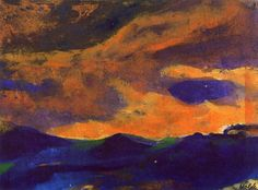 Dark Sea with Brown Sky Emil Nolde