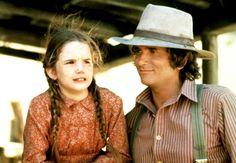 Melissa Gilbert and Michael Landon on LITTLE HOUSE ON THE PRAIRIE.