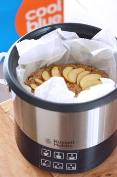 Vegan appel cake uit de slowcooker met noten Healthy Slow Cooker, Healthy Crockpot Recipes, Slow Cooker Recipes, Gourmet Recipes, Cake Recipes, Best Cooker, Nice And Slow, Multicooker, Food Science