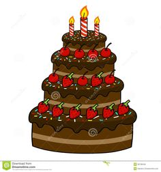 Royalty Free Stock Images Cartoon Cake Hand Drawing cakepins.com