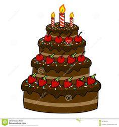 Royalty Free Stock Images Cartoon Cake Hand Drawing cakepins.com