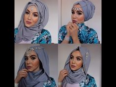1Min Hijab Tutorial 4Styles Eid Inspired!  Aminachebbi - YouTube