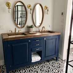 Strategy, secrets, along with quick guide with regards to receiving the very best result and coming up with the max perusal of Diy Bathroom Makeover Blue Bathroom Vanity, Navy Blue Bathrooms, Blue Vanity, Master Bathroom, Bathroom Sinks, Washroom, Bathroom Storage, Bathroom Renovations, Bathroom Ideas