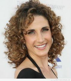hairstyle for women over 40 naturally curly - Google Search