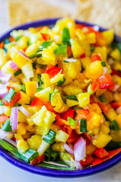 Spicy Pineapple Mango Salsa - Whole Foods Knockoff - Sweet C's Designs