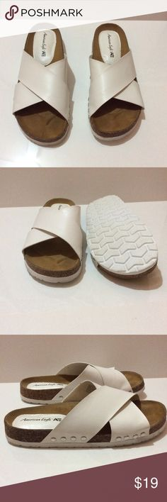 American eagle white sandals Used once. Great condition. American Eagle by Payless Shoes Sandals