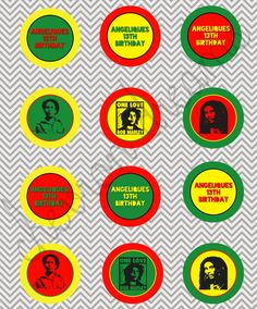 Rasta Bob Marley Theme Cake Toppers by ChevronDreams on Etsy, $4.00
