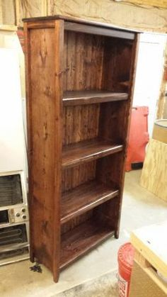 diy wood plank bookshelf pine boards plans by ana-white.com