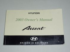 1995 toyota camry owners manual book guide owners manuals pinterest 2003 hyundai accent owners manual book guide fandeluxe Images