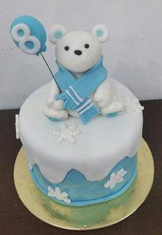 Bolo mesversario menino Urso