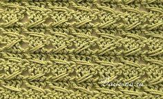 рельефный узор крючком / samurai crochet relieve stitch