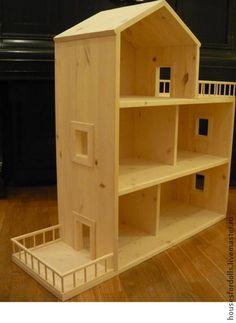 Кукольный дом ручной работы. Домик из мебельного щита. Кукольный домик. Интернет-магазин Ярмарка Мастеров. Деревянный домик