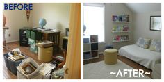 Extra Bedroom organization project: Before & After