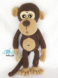 Amigurumi Pattern Monkey Animal Crochet Pattern by LovelyBabyGift