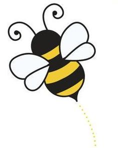 honey bee clipart image cartoon honey bee flying around honey rh pinterest com honey bee clipart black and white honey bee clip art images free