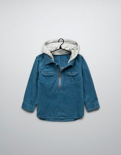 HOODED CORDUROY SHIRT - Shirts - Baby boy (3-36 months) - Kids - ZARA United States