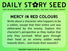 ✿ Daily Story Seed ✿ Write about a character who happens to be a soldier, except that their entire unit was obliterated by the enemy. Explore this character's perspective as they realise that only they survived. What goes through their head as an enemy soldier walks towards them and... treats their wounds?