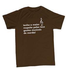 T-shirt Tenho o maior respeito BTU0043 **beezarre**