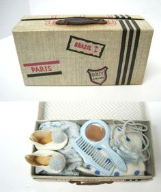 VINTAGE EARLY 1950s VOGUE GINNY DOLL FITTED SUITCASE
