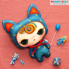 My Little Cat DIY Fabric Doll Cushion DIY by AtelierDressyDoll