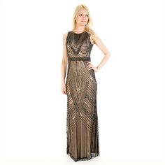 Adrianna Papell Beaded and Sequined Gown..Deliciously  Roaring 20's  $350.00