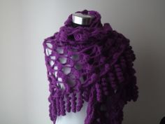 for #purple lovers! a beautifully #handmade Purple #Crochet #Shawl by nilsmake on #Etsy