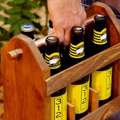 Rustic Six Pack Beer Caddy - Brian needs this!