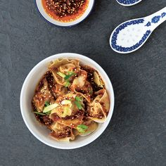 Sichuan-Style Wontons in Red Oil