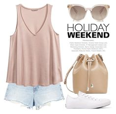 """Pack and Go: Labor Day 2134"" by boxthoughts ❤ liked on Polyvore featuring Alexander Wang, H&M, MANGO and Converse"
