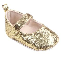 """Baby Shoes, Egmy Toddler Girl Soft Sole Crib Shoes Sequins Sneaker Baby Shoes (Age:6~12 Month, Gold). Size:11 Length:11CM Inches:4.3"""" Age:0~6 Month UK:1.5 US:2.5. Size:12 Length:12CM Inches:4.7"""" Age:6~12 Month UK:2 US:3. Size:13 Length:13CM Inches:5.1"""" Age:12~18 Month UK:3 US:4. Soft material makes baby feel very comfortable. Prefect for daily use and easy to take off or wear."""