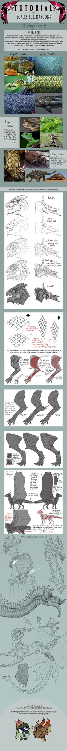 TUTORIAL: Scales for Dragons by SammyTorres on DeviantArt: