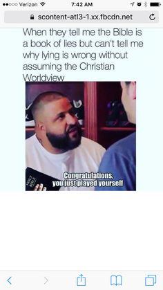 Congratulations. Atheists, you play yourselves