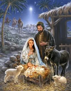 DIY Diamond Painting by Numbers Kits, Jesus Nativity Religion Sheep Shepherd, Full Drill Rhinestones Paint with Diamonds Crystal Diamond Art (Jesus) Christmas Scenery, Merry Christmas Images, Christmas Nativity Scene, Christmas Pictures, Christmas Art, Vintage Christmas, Jesus Born Christmas, Christmas Wishes, Christian Christmas