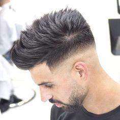 Mid Bald Fade + Textured Spiky Hair
