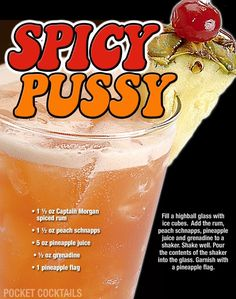 Millions of People Enjoy Pocket Cocktails. Check out our World Famous Drink Posters. Liquor Drinks, Cocktail Drinks, Cocktail Recipes, Sweet Cocktails, Craft Cocktails, Mixed Drinks Alcohol, Alcohol Drink Recipes, Triple Sec, Mojito