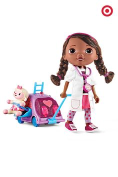 Make house calls with this Walk n' Talk Doc Mobile. The doll really walks, talks and sings, and features cute and colorful accessories. It's the ideal gift for girls who love Doc McStuffins.