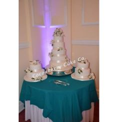 White Lilies Wedding Cake