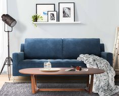 Our Grant apartment sofa in Deep Water Blue fabric is signature for its deep tufting and clean lines. It carries all the marks of a modern classic design. Made in Canada. Apartment Sofa, Water Blue, Deep Water, Polyurethane Foam, Blue Fabric, Modern Classic, Modern Furniture, Love Seat, Cushions