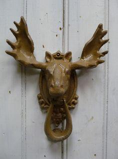 Moose Doorknocker Rustic Tan brown rustic Nature by MySeriousSide