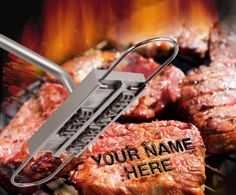 Father's Day Gift Ideas for Farmers: BBQ Branding Iron - personalize your steaks on the grill!